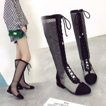 Boots 35 36 37 38 39 Black lace up back zipper boots collection baby priority delivery white back zipper boots black back zipper boots PU Girl head Middle heel (3-5cm) Fine heel PU High tube Round head PU PU Summer of 2018 Back zipper Solid color Adhesive shoes PU