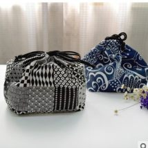 Lunch box bag DIY Blue dark blue lake blue