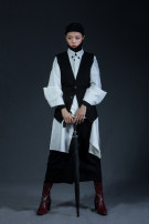 Vest Winter 2017 black M size customization