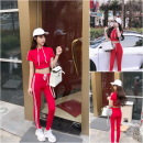 Casual suit Summer of 2018 gules S M Other / other