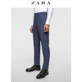 Western-style trousers ZARA Business gentleman blue 38 (190/96A) 01564421400-24 Polyester 49% viscose (viscose) 48% polyurethane elastic (spandex) 3% Summer of 2018 Same model in shopping mall (sold online and offline)