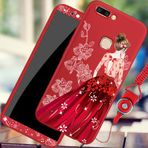 Mobile phone cover / case Xiaoji Shimei Japan and South Korea vivo X20 - peerless beauty (black) X20 - peerless beauty (black) X20 plus - peerless beauty (black) X20 plus - peerless beauty (black) X20 plus - peerless beauty (black) X20 full package color painting Protective shell silica gel