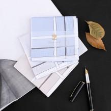 Handkerchief Zhuoya - Blue (single envelope package) Zhuoya - coffee (single envelope package) Zhuoya - grey (single envelope package) Zhuoya - coffee + blue (double gift box) Zhuoya - coffee + grey (double gift box) Zhuoya - Blue + grey (double gift box) Zelue Zhuoya 43CM*43CM pure cotton man