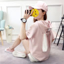 T-shirt 918 pink 921 white 921 pink 921 blue 917 white [black scarf] 917 pink 917 blue 928 white 928 blue 922 pink 922 blue 922 white 929 pink 929 white 929 blue 919 Khaki MLXLXXL Summer of 2018 Short sleeve Crew neck easy Regular routine commute 18-24 years old Korean version originality Embroidery