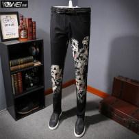 Jeans Youth fashion Bouvier Thirty-four Decor routine Micro bomb Thin denim G2253 Cotton 97% polyurethane elastic fiber (spandex) 3% Autumn of 2018