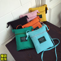 Bag The single shoulder bag canvas Small square bag Yilinbao Black Zipper Bag Orange Zipper Bag Yellow Zipper Bag Green Zipper Bag Blue zipper bag pink zipper bag brand new like a breath of fresh air Small leisure time soft zipper no Solid color Single root One shoulder cross nothing youth candy