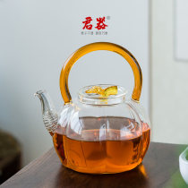 teapot Heat resistant glass Dehua County Heat resistant glass yes Self made pictures Junqi 801ml (inclusive) - 900ml (inclusive) JQ701 Chinese style like a breath of fresh air