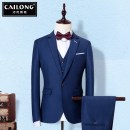 Suit Business gentleman Talent Dragon Dark blue black royal blue 【M】 Pants size order note [l] pants size order note [XL] pants size order note [2XL] pants size order note [3XL] pants size order note [size is too small, suggest a larger size] [15 days no reason to return + delivery freight] routine