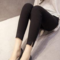 Leggings Spring of 2018 White leg split white simple black simple black leg split S M L XL 2XL Thin money trousers 05457 18-24 years old Xia Danxue