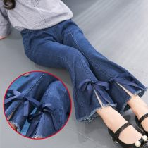 Jeans Autumn of 2018 Picture color 110 120 130 140 150 160 trousers routine Under 17 Dark color Other / other