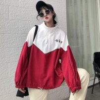 Sweater / sweater Autumn of 2018 Red blue Average size Long sleeves Socket routine singleton  routine High collar easy commute routine 18-24 years old
