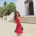 Dress Summer of 2018 Lucky bag red black M L XL 2XL Other / other