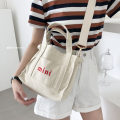 Bag The single shoulder bag cotton Small square bag Other / other Off white brand new Japan and South Korea in leisure time soft yes Three Hard handle