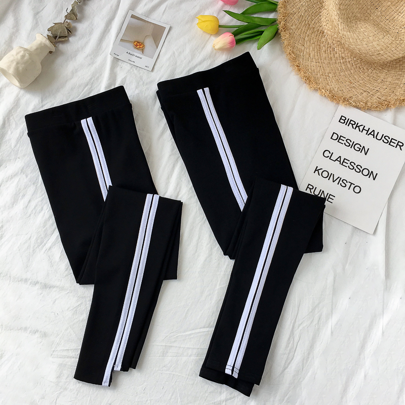 Leggings Autumn of 2018 Black flat mouth, irregular foot mouth Average size routine trousers six thousand seven hundred and fifty-eight 18-24 years old Other / other pure cotton 91% (inclusive) - 95% (inclusive)