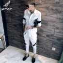 shirt Youth fashion Others M L XL 2XL 3XL A422-1-t95 black suit a422-1-t95 off white suit white light gray black Thin money Short sleeve square neck Self cultivation Other leisure summer tz998 youth Polyamide (nylon) 65% cotton 35% tide 2018 stripe Linen No iron treatment cotton Colorful placket