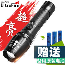 Flashlight Ultrafire LED 350 lumens and above 500m and above aluminium alloy 260g eighteen thousand six hundred and fifty More than 3 years yes China Eight hundred and eighty-eight 14cm Daily camping, hiking, night riding, diving, cave hunting Fishing, self driving, hiking, camping, diving yes