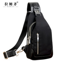 Men's bag Chest pack oxford Ramsay / Ramsay brand new leisure time leisure time zipper soft Small no Mobile phone bag certificate bag sandwich zipper bag computer insert bag Solid color Yes Single root youth Vertical square polyester fiber Buckle R -0016 Soft handle Inner patch pocket 8 inches