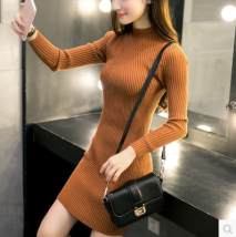 Wool knitwear Autumn of 2018 Average size Decor pre-sale white wine red Khaki grey green black Long sleeves singleton  Socket acrylic fibres 31% (inclusive) - 50% (inclusive) Medium length routine commute Self cultivation Half height crew neck routine Solid color Socket 18-24 years old Other / other