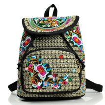Backpack canvas Other / other Red peony red peony red peony red peony red peony red peony red peony blue flower brand new in Strip extraction travel Three ethnic style hard middle age yes Soft handle Plants and flowers nothing female No waterproof polyester cotton Embroidery no 11 inches TB2747o
