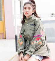 Windbreaker Spring of 2018 S M L XL Black (good quality) army green (good quality) Khaki (good quality) black army green Long sleeves routine commute