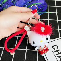 Key buckle Graceful PVC + water drill cartoon series  036412 Tender girl's heart