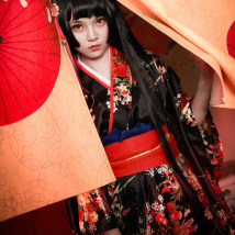 Cosplay women's wear suit goods in stock Over 14 years old Two finger socks, clogs, hell girl clothes, fan comic L M S XL Japan Fan yuzhai is Lolita