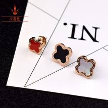 Ear Studs Titanium steel 30-39.99 yuan Other / other Red diameter 1.2 red diameter 1.0 black diameter 1.2 black diameter 1.0 white diameter 1.2 white diameter 1.0 brand new Japan and South Korea female goods in stock Fresh out of the oven other Plants and flowers