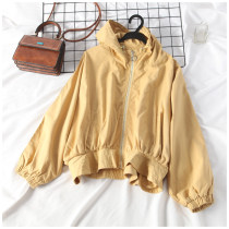 short coat Autumn of 2018 Average size White pink apricot yellow Long sleeves routine routine singleton  easy commute routine Hood zipper 18-24 years old 31% (inclusive) - 50% (inclusive) X0815112 other
