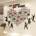 Wall stickers Acrylic Black + Red Navy + Red Black + Red thickened Navy + Red thickened Big, big, big Three dimensional Wall Sticker other set Study Others Geometric pattern Simple and modern He Xu Z1049