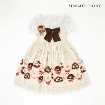 Dress Summer of 2018 Cream mint chocolate S M L XL Middle-skirt singleton  Sleeveless Sweet middle-waisted Socket Cake skirt camisole 18-24 years old Type A Other / other 91% (inclusive) - 95% (inclusive) Chiffon polyester fiber Lolita