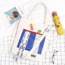 Bag The single shoulder bag canvas Tote Bag Other / other A11 white a11 black brand new Japan and South Korea large leisure time soft zipper yes Three