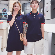T-shirt Picture color Female s female m female l female XL female XXL male m male l male XL male XXL male XXXL Summer of 2018 Short sleeve Polo collar easy Regular routine commute 18-24 years old Korean version love Cartoon animation Flower painting H11H037 Pure e-commerce (online only)