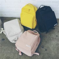 Backpack oxford ZOOBAGS Pink yellow gray black brand new in zipper leisure time Double root Japan and South Korea soft youth no Soft handle Solid color Yes female Water splashing prevention Vertical square Mobile phone bag, certificate bag, computer bag polyester fiber Sewing yes 15 inches