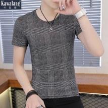 T-shirt Youth fashion dark grey routine L Kava Wolf KWL-726 Cotton 93% polyurethane elastic fiber (spandex) 7% Cotton wool Spring of 2018