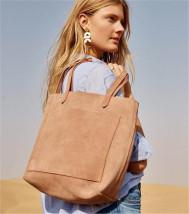 Bag Inclined shoulder bag cowhide Tote Bag Other / other Brown Pink Black with brown handbag zipper, please note black One shoulder portable messenger cowhide