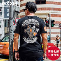 T-shirt Youth fashion T18824c black routine 6XL GxxH t18824c Cotton 95% polyurethane elastic fiber (spandex) 5% Summer of 2018