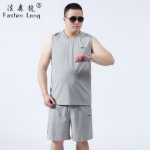 Vest / vest Youth fashion Fast long grey 8XL thin FSL-3303 Polyester 60% cotton 40% Brocade cotton Summer 2017 Pure e-commerce (online only)