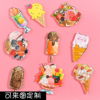 Brooch organic glass RMB 1.00-9.99 Other / other brand new goods in stock Ruili lovers Online gathering features Not inlaid Biscuits / cakes / snacks T2328-T2363