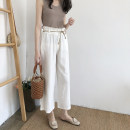 Casual pants Coffee Beige white black Average size Summer of 2018 DAILY MOOD
