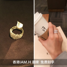 Ring / ring 101-200 yuan Silverware I AM H. 48 spot 50 spot 52 spot 54 spot 56 spot 58 spot 60 spot brand new Europe and America Female Freshly baked 925 Silver