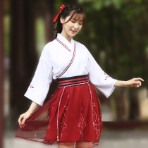 National costume / stage costume Summer of 2018 Red SMLXL Hanfunu HF1873 18-25 years old Polyester 100% Pure electricity supplier (only online sales)