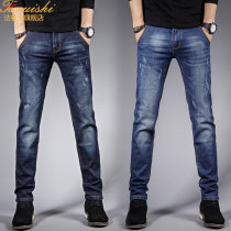 Jeans Youth fashion Farris Twenty-eight 6311 dark grey (conventional) routine Micro bomb Regular denim 319-14 Cotton 66.2% polyester 31.9% viscose (viscose) 1.1% polyurethane elastic (spandex) 0.8% Spring of 2018 Pure e-commerce (online only)