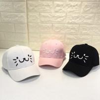 Hat ฝ้าย Black cat face baseball cap white cat face baseball cap pink cat face baseball cap ฤดูใบไม้ร่วงฤดูใบไม้ผลิ หมวกเบสบอล ร่วมกัน โดม ช้อปปิ้ง จีบ