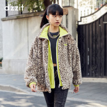 leather and fur Winter 2020 d'zzit Deep Khaki XS S M Medium length Long sleeves commute High collar routine zipper other Korean version 3C4F4426N 25-29 years old 96% and above Same model in shopping mall (sold online and offline) Polyester 100%