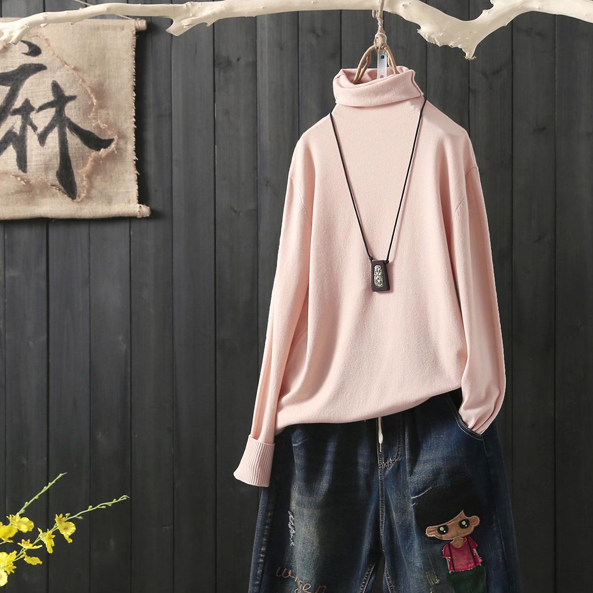Wool knitwear Autumn of 2018 Average size Lotus root pink white black coffee Royal Blue off white Long sleeves singleton  Socket Viscose Regular Socket