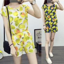 Casual suit Summer of 2018 Yellow (suit) blue (suit) SMLXLXXL 18-25 years old 711v Lixu Polyester 100% Pure e-commerce (online only)