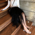 skirt Autumn of 2018 Average size black Mid length dress commute High waist Irregular Solid color Type A 18-24 years old other other Korean version