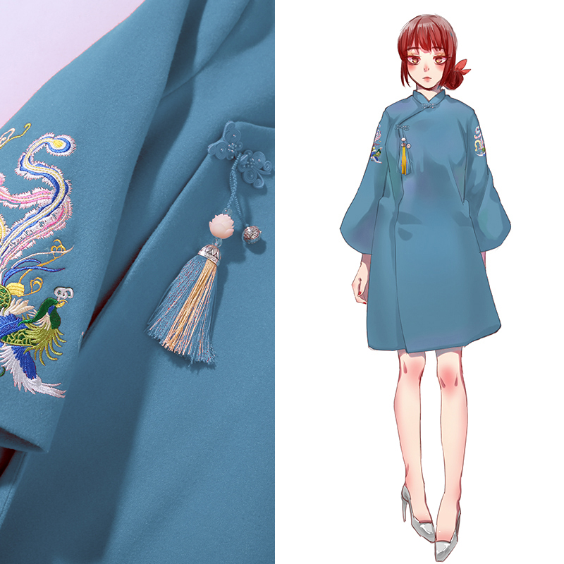 jacket Winter of 2018 Light blue red dark blue SMLXLXXL Nine hundred and eighty-nine Magic heart commune 18-25 years old Wool 30% other 70%