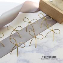 Other DIY accessories Other accessories other RMB 1.00-9.99 Bow Earrings {1} 2.5 * 2cm