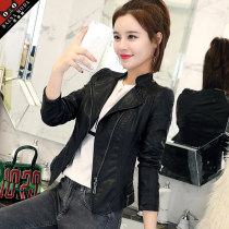 leather clothing Fall of 2018 Black version is too small MLXL2XL3XL4XL Basna Moda / basna Short paragraph Self-cultivation Long sleeve zipper Commuting